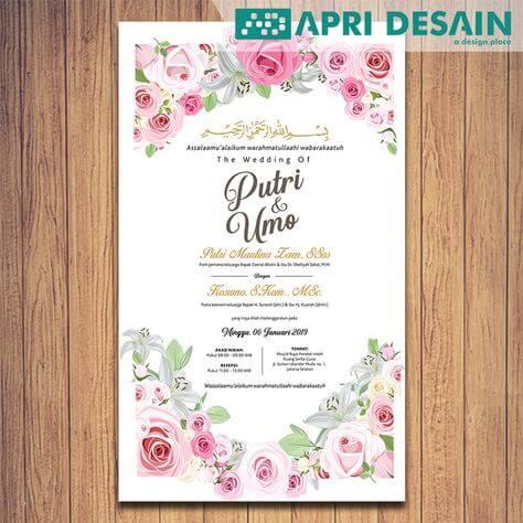 undangan digital elegan cantik nuansa bunga
