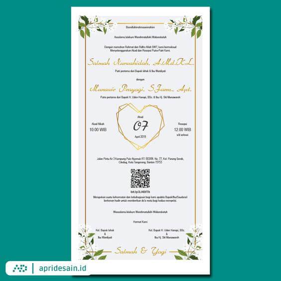 undangan pernikahan unik romantis