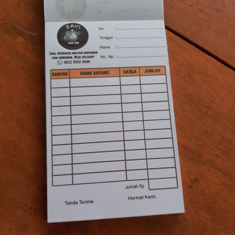 contoh nota penjualan barang