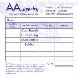 contoh nota penjualan laundry