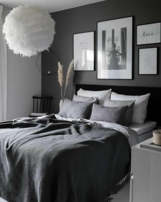 Kamar Tidur Minimalis Hitam 1
