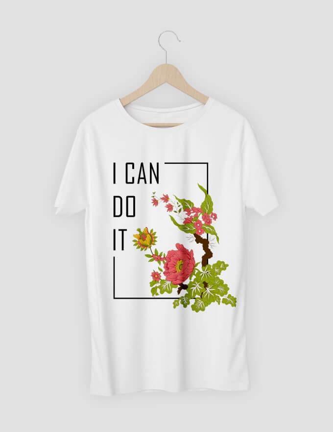 tren desain kaos bunga tumbuhan