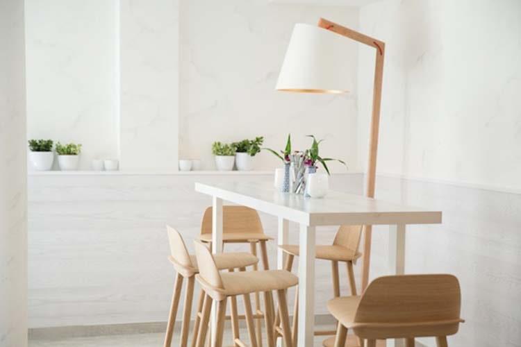 desain cafe minimalis skandinavia