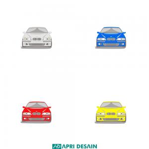 jasa desain ilustrasi vektor kendaraan mobil