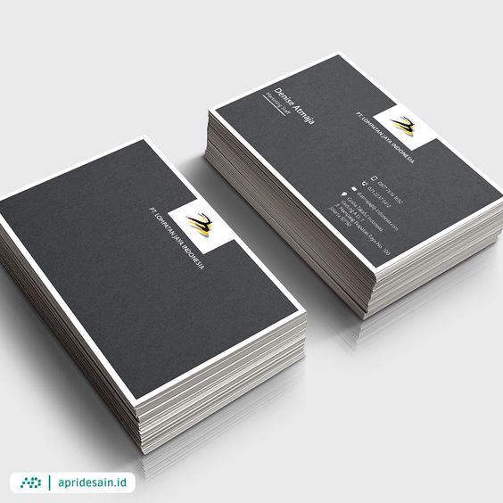 desain kartu nama hitam putih