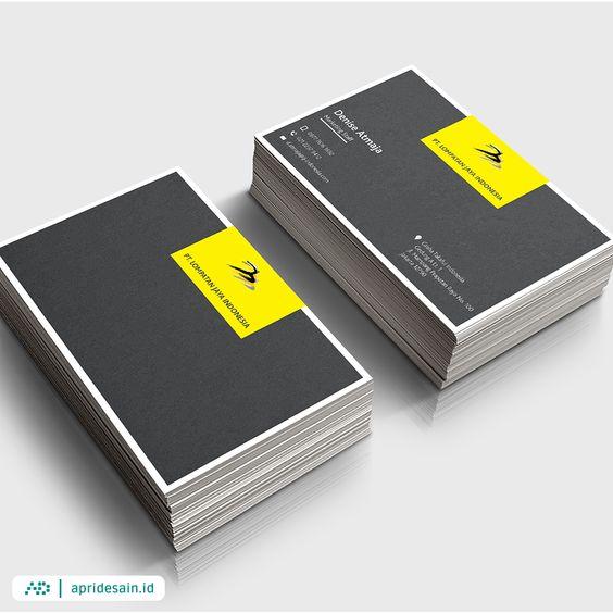 desain kartu nama hitam kuning