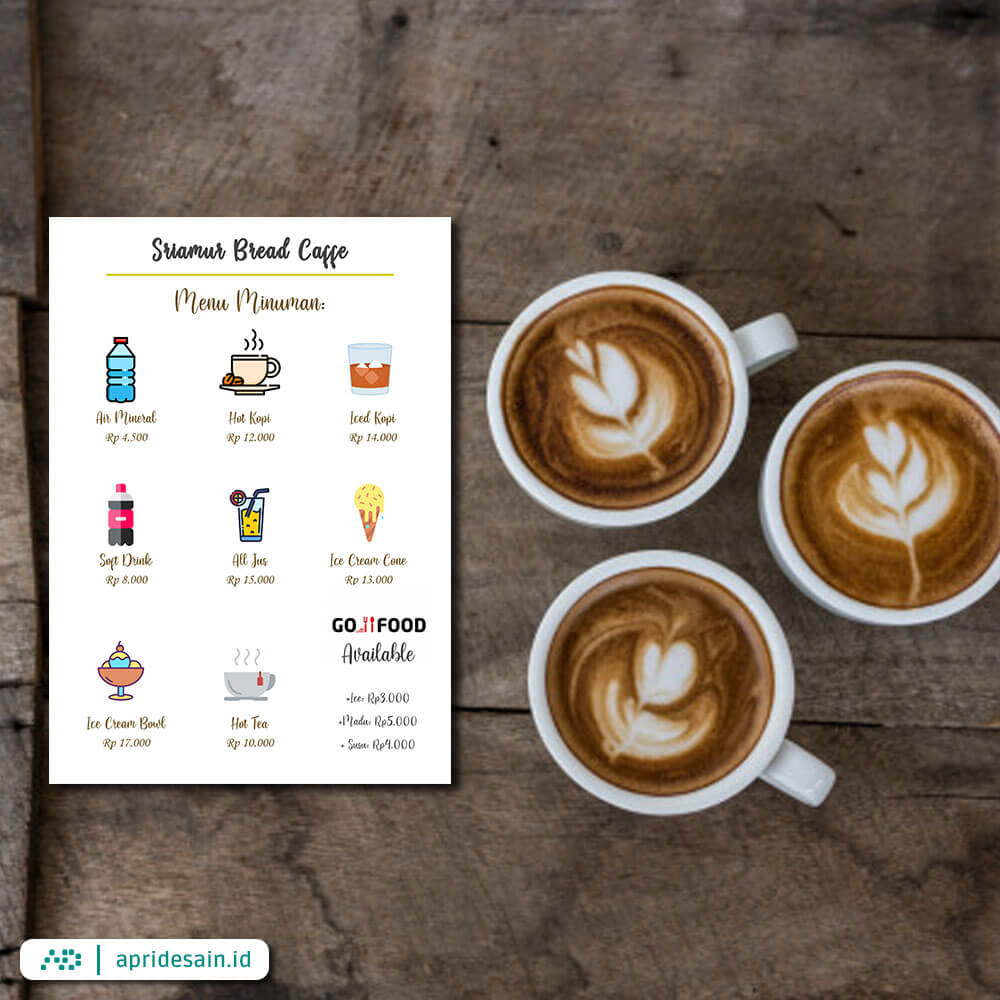 desain buku menu kafe