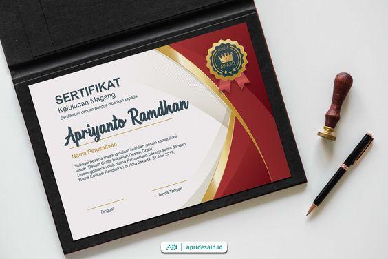 desain sertifikat murah
