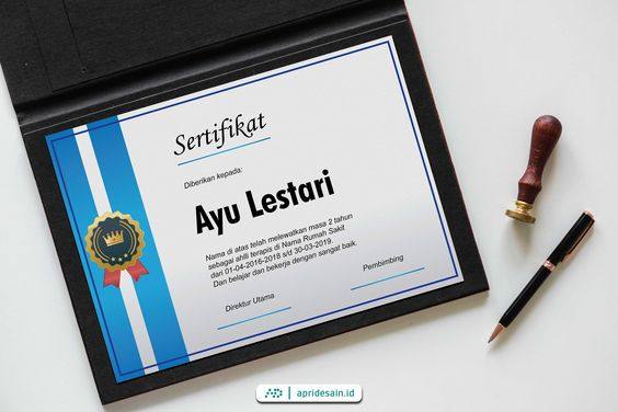 jasa desain sertifikat jakarta murah