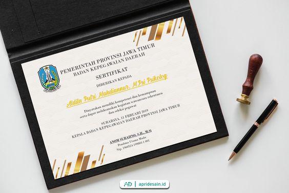 desain sertifikat jawa timur