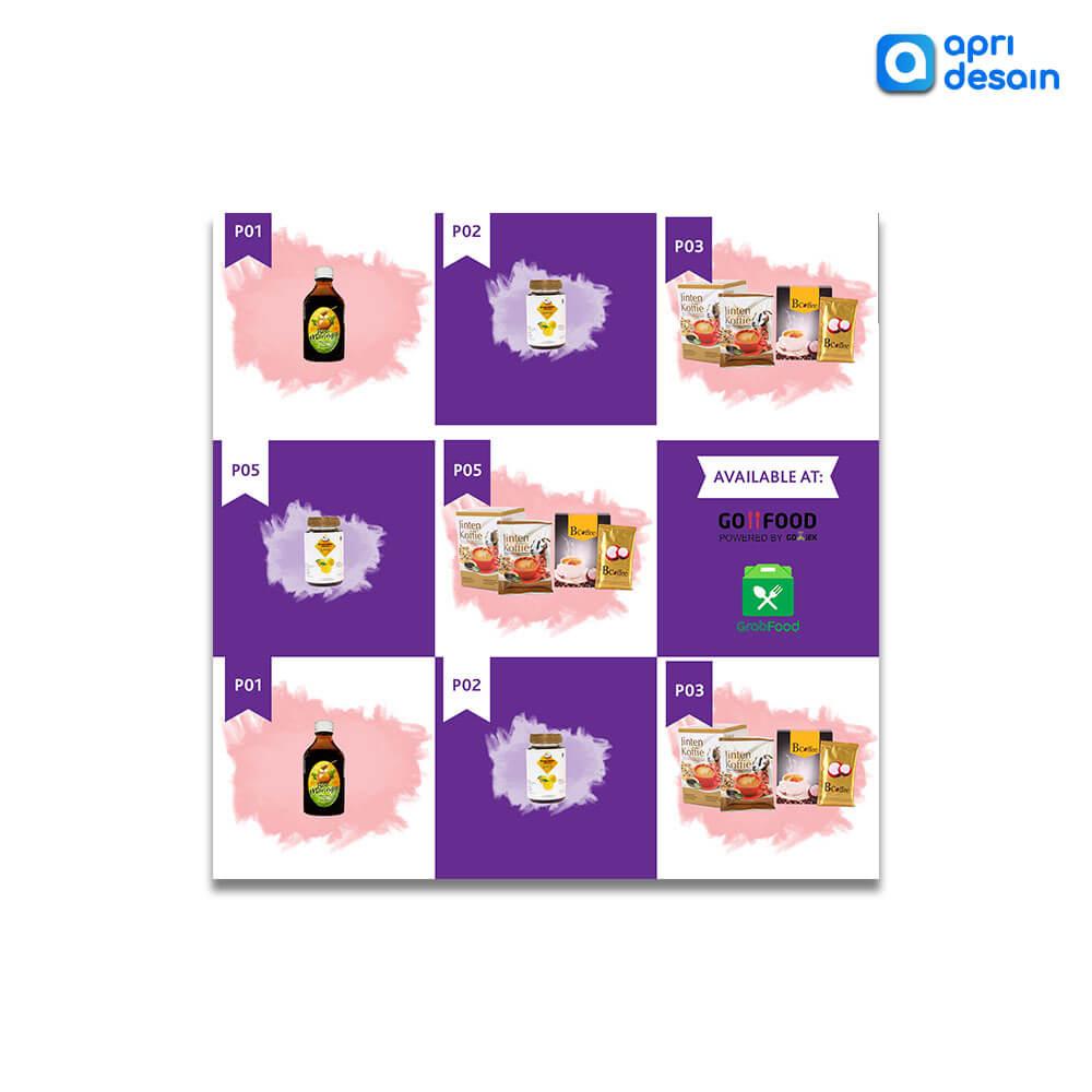 desain feed instagram 9 grid