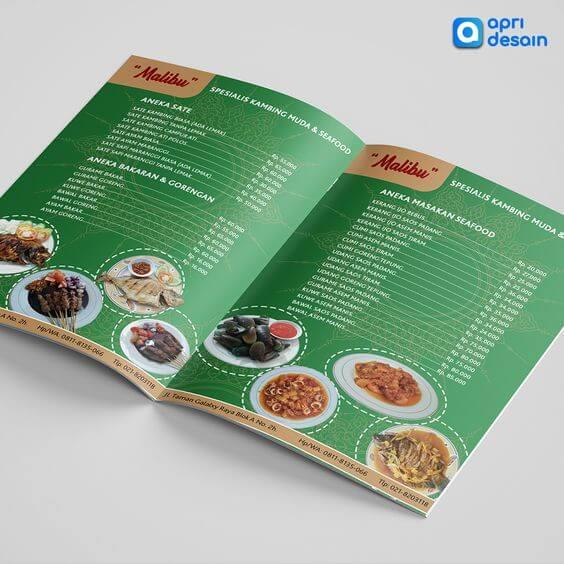 jasa desain menu restoran seafood hijau