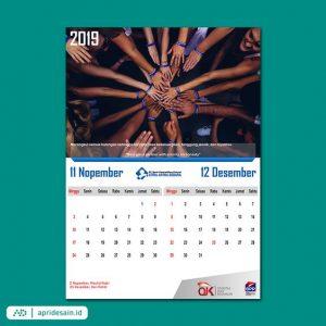 desain kalender mewah elegan