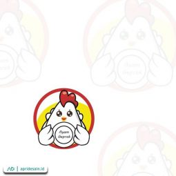 desain logo ayam geprek