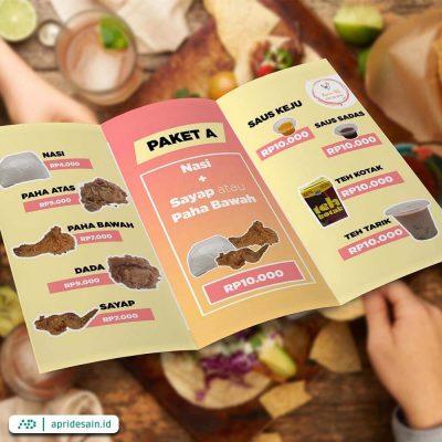 jasa desain menu restoran